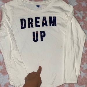 Old navy long sleeved shirt size 8- used